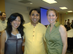 SVMN Interim ED April Newman, SKS CEO & Founder Vikram Akula, and SVMN and Microplace Founder Tracey Pettengill Turner